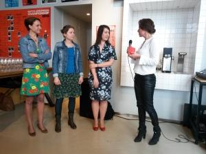 v.l.n.r.: Sandra, Hanneke, Marloes, Janneke.